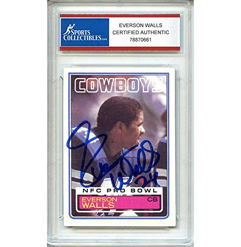 (Everson Walls Autographed Signed 1983 Topps Trading Card - Certified Authentic)