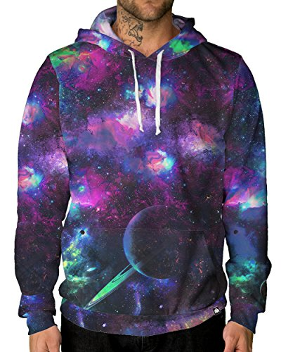 INTO THE AM Deep Galaxy Premium All Over Print Hoodie - What Wear To To Festival Summer Music