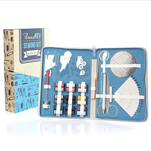 ThreadRev 83 Piece Mini Sewing Kit for Kids, Beginners, Adults, Travel, Home, DIY & Emergencies
