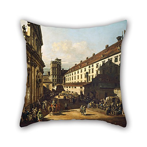 Loveloveu Oil Painting Bernardo Bellotto, Called Canaletto - Vienna, Dominican Church Pillowcover 16 X 16 Inches / 40 By 40 Cm For Chair,teens Boys,boys,club,outdoor,teens Boys With Double Sides (Chair Kids Vienna)