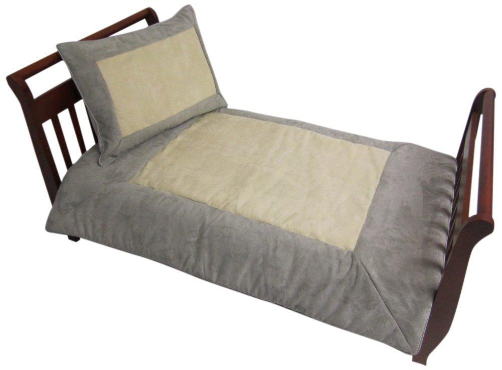 Baby Doll Bedding Set Zuma Toddler Bedding Set, Grey/Beige [並行輸入品]   B013FGYM9K