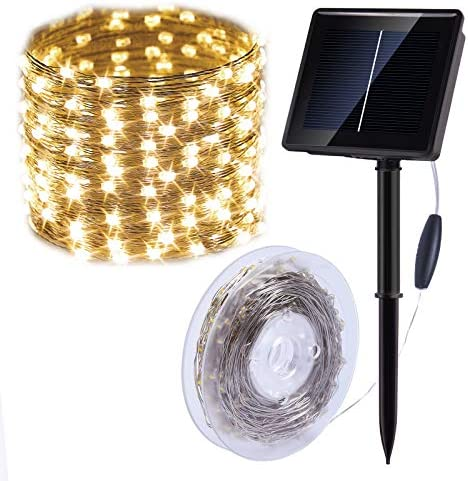 Solar String Lights Outdoor, 75FT 200LED Upgraded Super Bright Solar Lights Outdoor, IP65 Waterproof Copper Wire 8 Modes Fairy Lights for Garden Patio Party Decorations Warm White