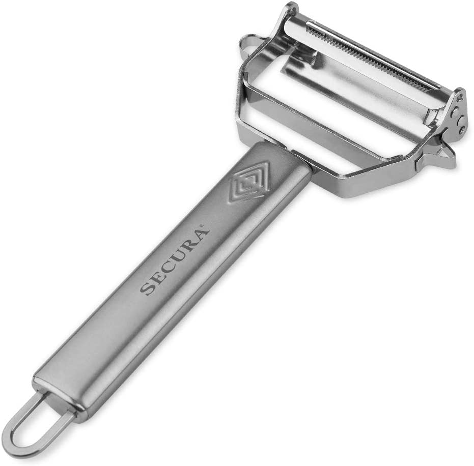 Secura Premium Ultra Sharp Stainless Steel Vegetable Julienne Peeler for Potato Apple