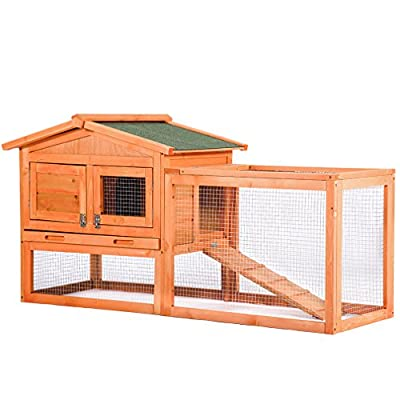 BestPet Chicken Coop Hen House Pet Rabbit Hutch Wooden Pet Cage Backyard With Run Box