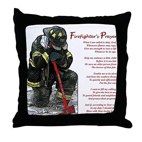 """CafePress Firefighter Prayer Decor Throw Pillow (18""""x18"""")"""