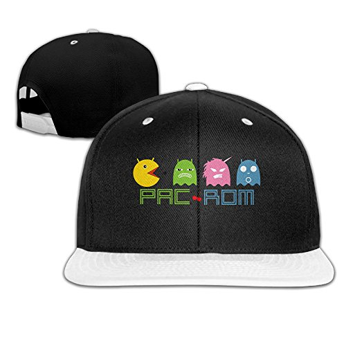 HAOYANG Pacbaby Cute Poke Adjustable Snapback Hats / Baseball Hats / Hip-hop Cap (Snow White Game Boy Color)