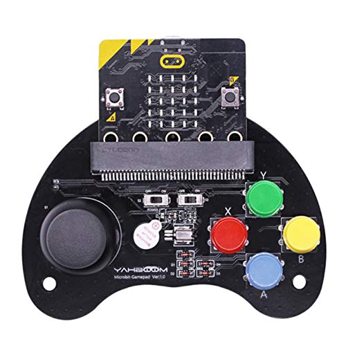 Vaorwne For Micro:Bit Robot Control Handle Game Joystick Stem Education Graphic Programmable Handle Game Machine Toy…