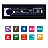 Fixget Car Stereo with Bluetooth, In-Dash Single Din Car Radio, Car MP3 MP5 Player USB/SD/AUX/AM/FM with Remote Control