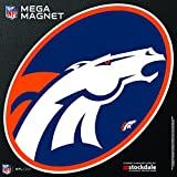 Denver Broncos MEGA Style Logo 12'' Magnet Heavy Duty Auto Home NFL Football