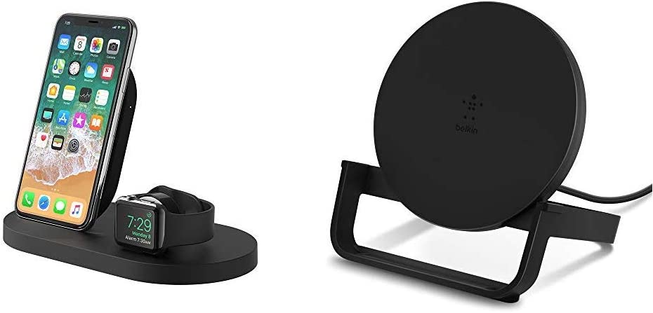 Belkin Boost Up Wireless Charging Dock, Apple Watch Charging Stand, iPhone Charging Station, iPhone Charging Dock (Black) & Boost Up Wireless Charging Stand 10W ǃÏWireless Charger