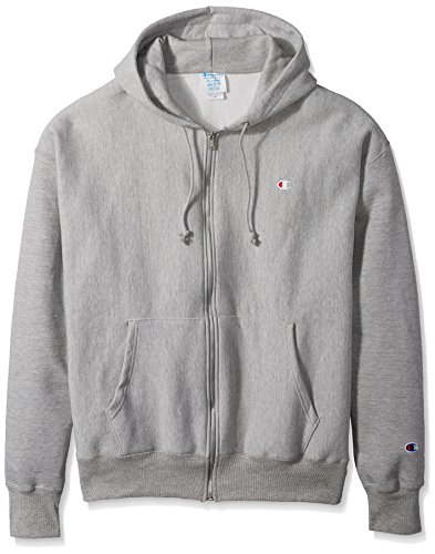- Champion LIFE Men's Reverse Weave Full-Zip Hoodie, Oxford Gray, XL