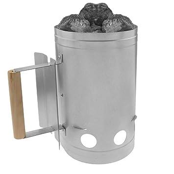 PrimeMatik - Arrancador de carbón para encender la Parrilla y Barbacoa BBQ: Amazon.es: Electrónica