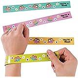 Owl Party Slap Bracelets - 12 Pc Owl Party Favors
