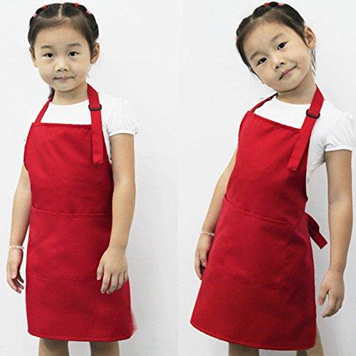 Interesting® Children Kids Plain Apron Kitchen Cooking Baking Painting Cooking Craft Art Bib-Blue