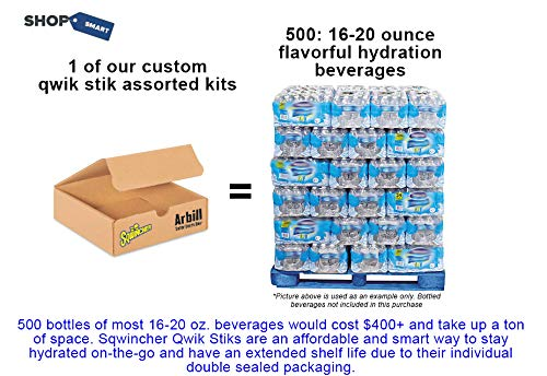 Sqwincher ZERO 5 Flavor Qwik Stik (500 Stik Assorted Pack) Sugar Free Electrolyte Powdered Beverage Mix by Sqwincher (Image #2)