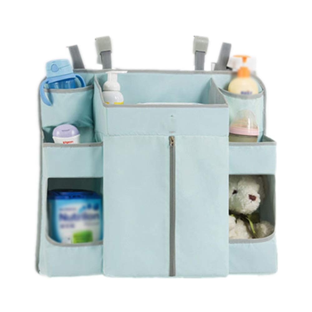 Gralet-home Bed Hanging Organizer Hanging Diaper Organizer, Diaper Stacker for Playard and Nursery Organization for Newborn for Baby Cot Bunk Bed (Color : Blue, Size : 59X15X51CM) by Gralet-home