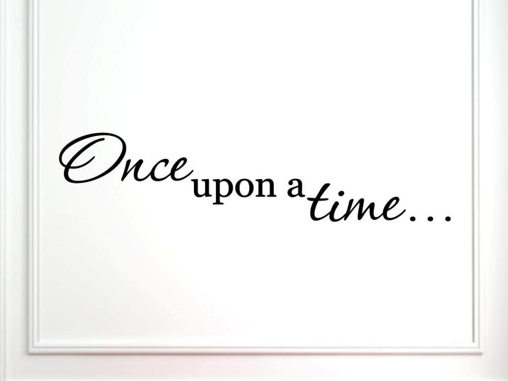 "Vinylsay 1310.Once-M.Black -33x7.5""Once Upon a Time"" Wall Decal, 33-Inch by 7.5-Inch, Matte Black"