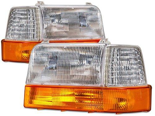 RVLightings Fleetwood Bounder (GAS) 2000-2002 RV Motorhome (Left & Right) Headlights Signal Coner Lights 6 Piece Set