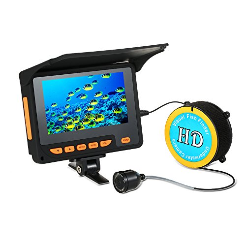 "Lixada 20M 1000TVL Fish Finder Underwater Ice Fishing Video Camera 4.3"" LCD Monitor 8 Infrared IR LED Night Vision Camera 140° Wide Angle"