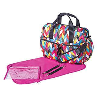 Trend Lab French Bull Ziggy Condensed Diaper Bag, Deluxe Duffle