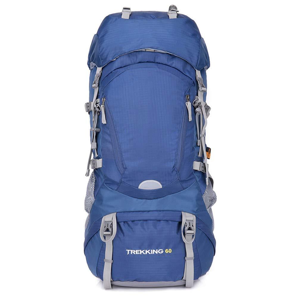 bleu  60L Sac à Dos Grande Taille en Toile pour randos Voyages ou école