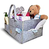 Fier Co Baby Diaper Caddy Organizer | Portable Nursery Storage | Large Capacity Baby Caddy | Newborn Hanging Baskets | Double The Strength for All Your Baby Needs