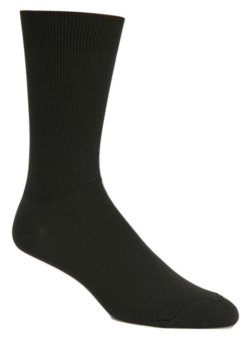 J.B. Field's Expedition Adventure Travel Quick Dry Socks (2 Pairs) (Medium (5-9 Shoe), White)