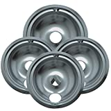 electric 3 burner cooktop - Range Kleen 119204XZ Style B Chrome 4 Pack Drip Bowls 3 Small and 1 Large