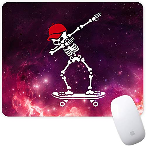 Marphe Mouse Pad Galaxy Red Hat Skateboard Skull Mousepad Non-Slip Rubber Gaming Mouse Pad Rectangle Mouse Pads for Computers Laptop (Gaming Skateboard)