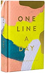 Record and reflect on every day with the One Line a Day keepsake journal. Discover the eye-catching new version of our bestselling memory books: Featuring the painterly brushstrokes of the beloved stationer Moglea, this beautifully colorful d...
