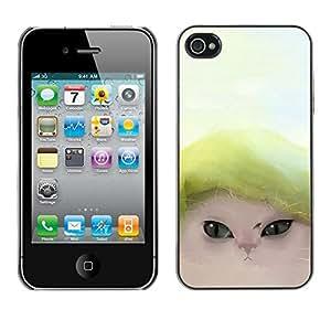 Paccase / SLIM PC / Aliminium Casa Carcasa Funda Case Cover - Cute Funny Cat - Apple Iphone 4 / 4S