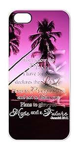 Apple iPhone 5 5S Bible Verse VA.1 Bible Verse Case Cover - White Case - AArt