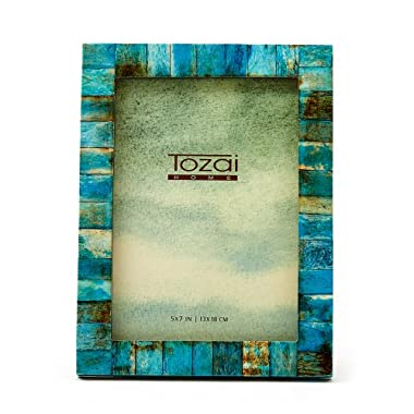 Two's Company Tozai Verdigris Photo Frame, 5 by 7-Inch