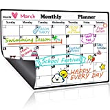 Homein Magnetic Dry Erase Calendar for Refrigerator, 2019-2020 Monthly Planner Kitchen Magnets Large Whiteboard Organizing Calendar Family, 16.9 X 11.8 inches