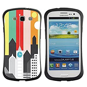 Suave TPU GEL Carcasa Funda Silicona Blando Estuche Caso de protección (para) Samsung Galaxy S3 I9300 / CECELL Phone case / / Artistic Minimalist Architecture Colors /