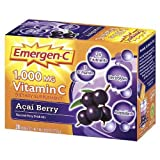 Emergen-C 1000 mg Vitamin C, Acai Berry 30 Count per Box (12 Pack)