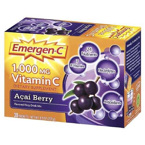 Emergen-C 1000 mg Vitamin C, Acai Berry 30 ea Pack of 5 by Emergen-C