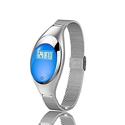 Smart Bracelet,Leiona Heart Rate Blood Pressure and Oxygen Monitor Smart Watch Bluetooth V4.0,Waterproof Smart Fitness Bracelets Pedometer Running Sleeping Tracker with OLED Touch controlled Screen