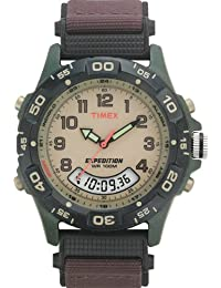 Men's T45181 Expedition Resin Combo Brown Nylon Strap Watch