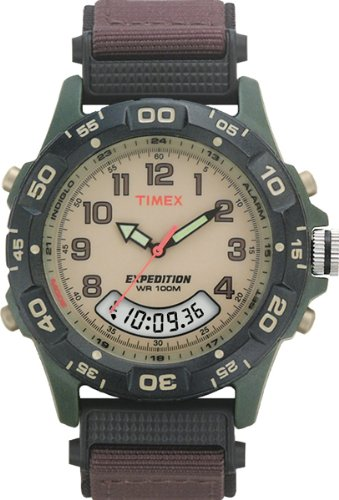 Timex Men's T45181 Expedition Resin Combo Brown Nylon Strap Watch (Alarm Chronograph Analog)