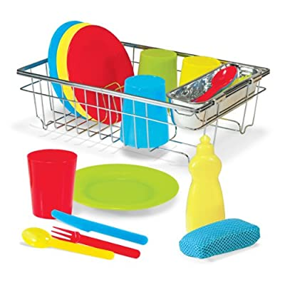 Melissa & Doug Lets Play House Wash & Dry Dish