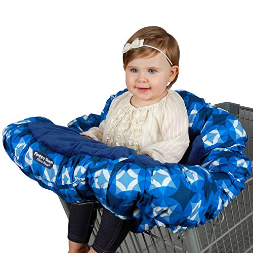 Floppy Seat Ultra Plush Shopping Cart & High Chair Cover - Sapphire by Floppy Products