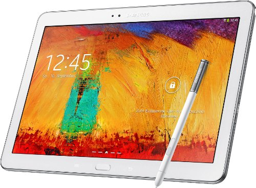 Samsung Galaxy Note 10.1 (2014 Edition) P605 LTE White 16GB Factory GSM Unlocked International Version No Warranty (Notebook Cellphone Samsung)