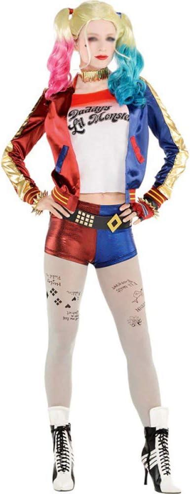 Aosida Superhero Harley Disfraz de Halloween Squad Cosplay Vestido ...