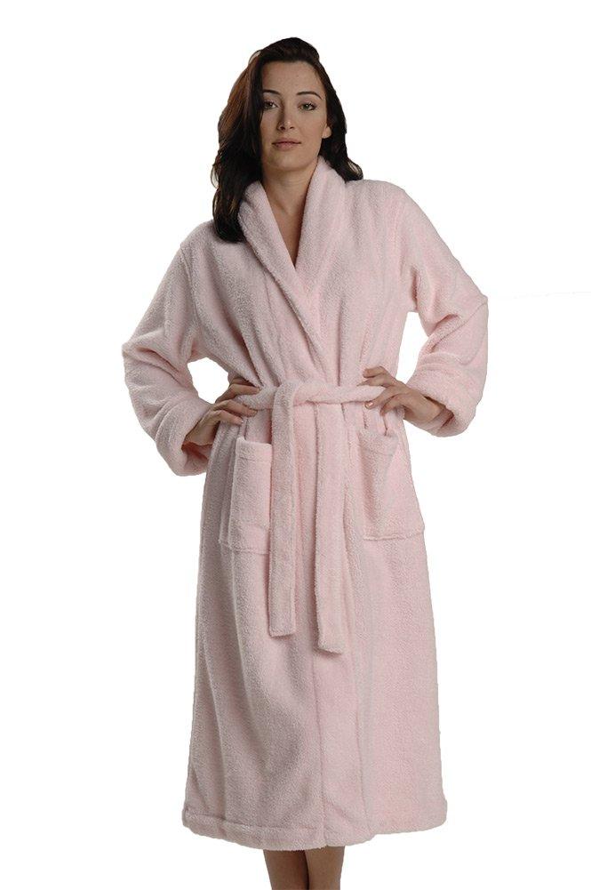 Thirsty Towels Turkish Cotton Shawl Collar ZEN SPA Robe S/M Pink