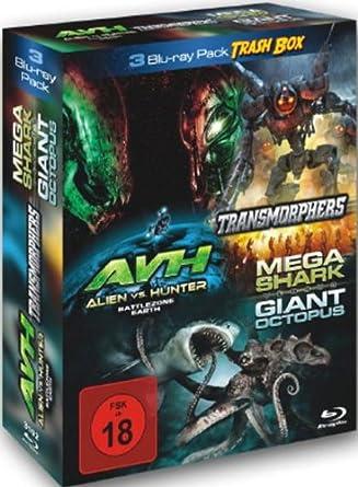 3 Blu-ray Trash Box : Transmorphers - Alien Vs Hunter - Mega Shark Vs Giant Octopus 3 DVDs Alemania Blu-ray: Amazon.es: Lorenzo Lamas, Matthew Wolf, William Katt, Dedee Pfeiffer, Jack Parez, Scott