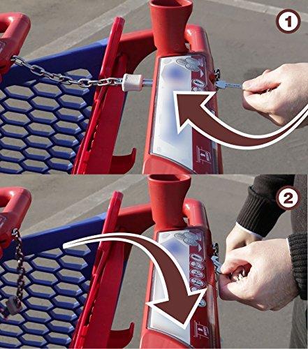 1 ersetz Einkaufswagenchip, Einkaufswagenl/öser : entsperrt den Einkaufswagen ohne M/ünze oder Chip und ohne im Pfandschloss steckenzubleiben Altoclic Universelle Master-Schl/üssel f/ür Einkaufswagen