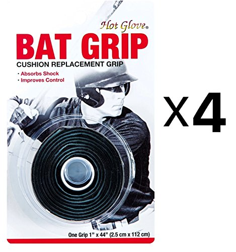 Unique Pro Sport Baseball-Softball Replacement Bat Grip Tape-Black (4-Pack) Bat Griptape