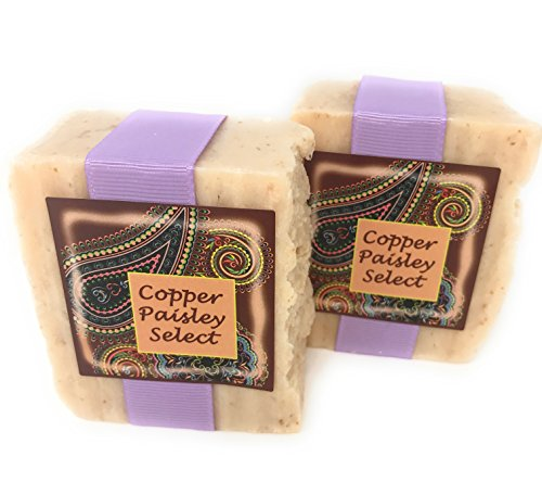 Bar Soap with Olive Oil and Colloidal Oatmeal, Vanilla Almond Fresh! 2 Bars, by Copper Paisley Select