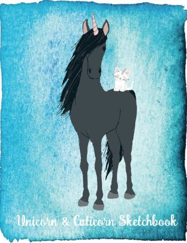 Unicorn & Caticorn Sketchbook: Unicorn Sketch Book for Kids - Drawing, Doodling & Writing Book - Blank, Unruled Paper, 100 Numbered Pages, Book is ... Paperback Cover, Perfect Bound, Matte Cover ebook